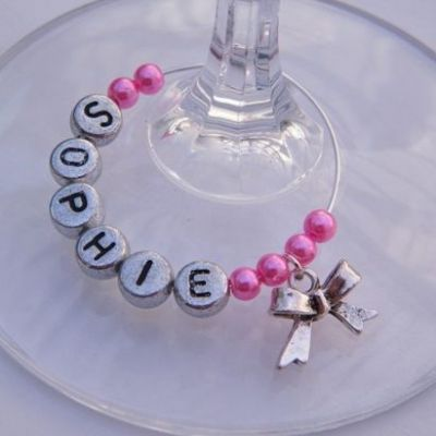 Bow Personalised Wine Glass Charm